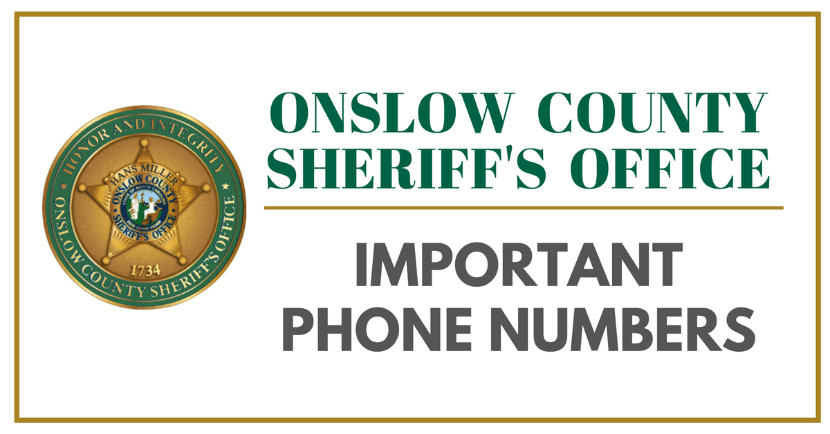 SHERIFFS OFFICE NUMBERS